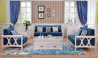 European Contemporary Style Living Room Furniture 1 + 2 + 3 Sofa Set
