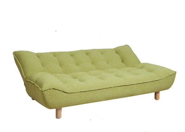 Bright Yellow Color Functional Sofa Bed Dacron Cashmere - Like Cover