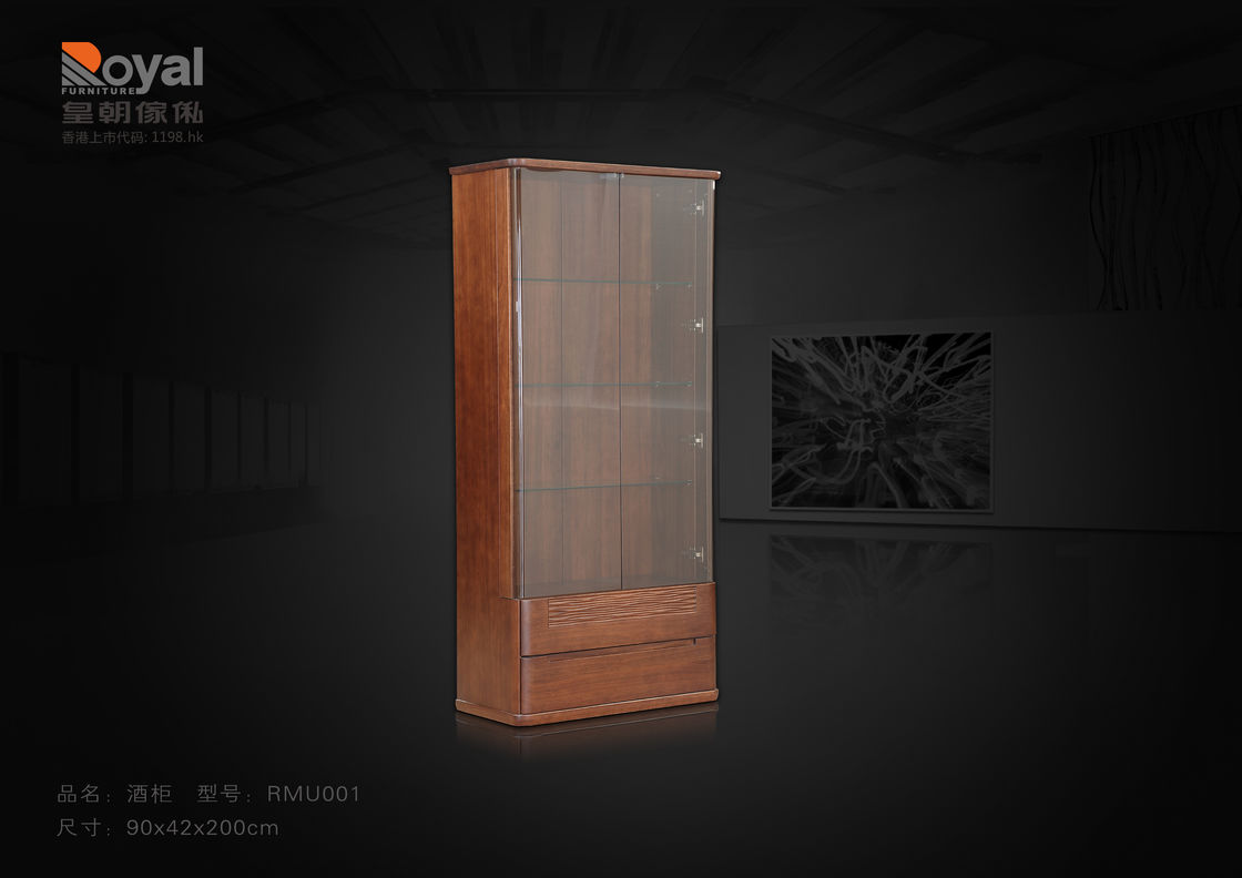 Traditional Modern Dining Room Furniture Wooden Wine Cabinet Painting Finishing