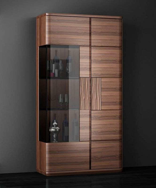 Floor Standing European Solid Wood Furniture , Uruguay Rose Wood Wine Cabinet